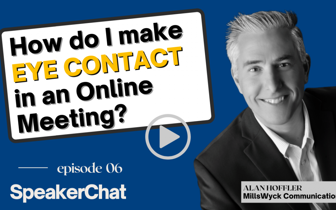 How do I make Eye Contact in an online meeting?